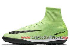 new concept a6728 0c39d Nike Mercurialx Proximo Ii Tf Chaussure De Football Pour Surface  Synthétique Vert Noir 831977-308