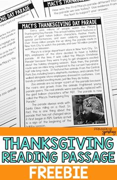 All About Thanksgiving {Integrating Language Arts & Social Studies}