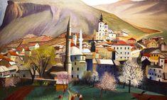 Tivadar Csontváry Kosztka - Springtime in Mostar Gouache, Sculpture, Renoir, Gravure, Monet, Picasso, Art School, Love Art, Impressionism