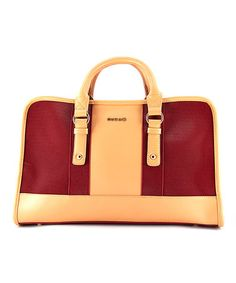 Take a look at this Red & Tan Color Block Satchel & Wallet on zulily today!