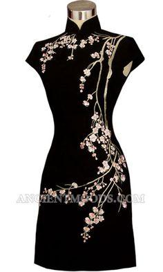 plum blossom qipao