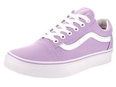 Vans Unisex Old Skool LavenderTrue White Skate Shoe 65 Men US  8 Women US *** Want additional info? Click on the image.