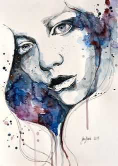 Window, watercolor & ink painting Art Print by jane_beata Watercolor Portraits, Watercolor And Ink, Watercolor Paintings, Watercolours, Acrylic Paintings, Oil Paintings, Art And Illustration, Floral Illustrations, Portrait Art