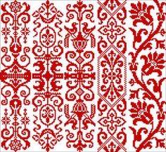 Motifs in Red.  good bookmark patterns. (other designs available on same link)