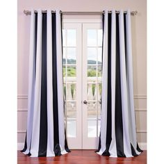 Striped Blackout Grommet Top Curtain Panel  at Joss and Main