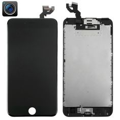 [$186.00] iPartsBuy 4 in 1 for iPhone 6s Plus (Camera + LCD + Frame + Touch Pad) Digitizer Assembly(Black)