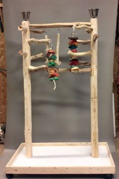 AFL3 Manzanita Activity Center Parrot Tree Bird Stand Toy Play Gym lik Java Wood