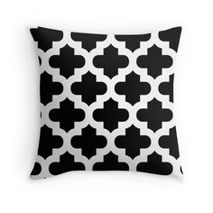 Moroccan,quatrefoil,modern,trendy,pattern,black,white,elegant,chic,decorative pattern