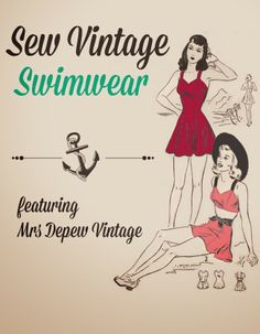 sew your own vintage style retro pin up swim suits with mrs depew vintage patterns