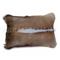 Springbok Small Pillow: Our Springbok Small Pillow is incredibly soft and adds natural beauty and texture to a room. The springbok is a small antelope found in southern Africa, and these pillows are made from farm raised springbok.