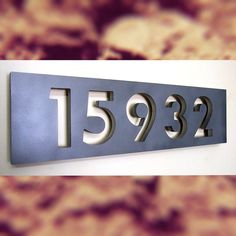Custom Modern Floating House Numbers in Aluminum