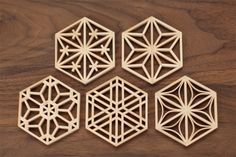 This design has got radial features to it as it centres from the middle and transform outwards, it also has balance to it. Islamic Patterns, Tile Patterns, Textures Patterns, Japan Design, 3d Cnc, Arabic Pattern, Japanese Woodworking, Japanese Patterns, Scroll Saw Patterns