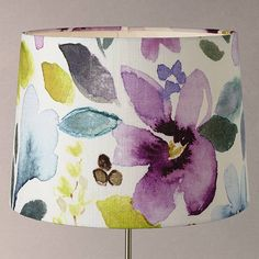 Buy bluebellgray Christine Grey Tapered Lampshade, Multi, from our Ceiling & Lamp Shades range at John Lewis. Painting Lamp Shades, Painting Lamps, Decorate Lampshade, Painted Lampshade, Fabric Chandelier, Magic Crafts, Bluebellgray, Ceiling Lamp Shades, Reupholster Furniture