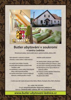 Butler ubytování v soukromí Lednice,jih Moravia Communal Kitchen, Holiday Accommodation, Butler, Dining Area, Catering, Catering Business, Gastronomia