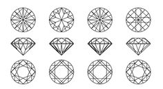 I get that these are diamonds but I cannot get over the beauty of the bottom row, or the top one for that matter!