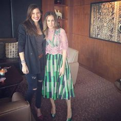Sarah Jessica Parker looked absolutely stunning in our Spring 2015 Shirred Frock today for her SJP shoe collection press appearance at Harvey Nichols in Dubai!