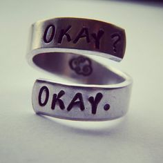 The Fault in our Stars Ring. I MUST have!!!!!!!!!!!!!!!!!!!!!!!!!!!!!!!!!!!!!!!!!!!