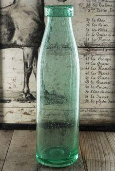 Green Glass Bottles Vases  15.25 in.  $24 each / 3 for $21 each