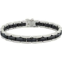 Chanel Diamond Ultra Narrow Bracelet ($6,500) ❤ liked on Polyvore featuring jewelry, bracelets, silver, chanel bangles, 18k bangle, diamond jewellery, chanel and chanel jewelry