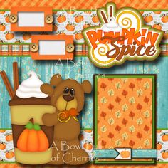 CHILLS /& THRILL TITLE Halloween scrapbook premade paper piecing by Rhonda