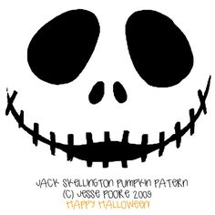 jack skeleton nightmare before christmas pumpkin carving pattern