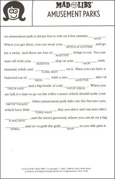 Goofy Mad Libs | Additional photo (inside page)