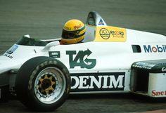 Ayrton Senna da Silva (BRA) (TAG Williams Racing Team), Williams FW08C - Ford-Cosworth DFV 3.0 V8/ 1983 Great Britain Test, Donington Park Circuit