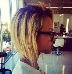A line hair cut Karrueche Tran