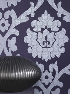 Plush is a popular large-scale damask design with a high level of detailing. It will have a huge impact on any room.