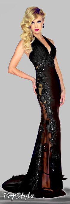MAC DUGGAL - Lacy Black Dress