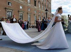 Crown Princess Victoria of Sweden on her wedding day 19 June 2010.
