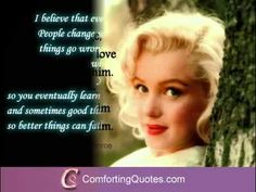 "Marilyn Monroe Love Quotes Subscribe to our  ""comforting quotes youtube channel"" more inspiring quote videos."