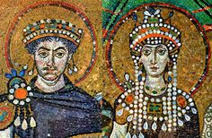 Great love stories of the history. Emperor Justinian and his wife Theodora. Sultan Suleiman and Roxelana.