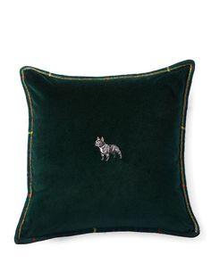 Ralph put Hugo on a pillow, and now I want 2! ...Colby Velvet Throw Pillow - Ralph Lauren Home Decorative Pillows - RalphLauren.com