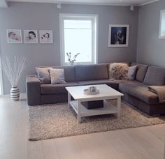 Pin by Larissa Dykes on Apartment Ideas . Basement Living Rooms, Living Room Grey, Home Living Room, Living Room Designs, Living Room Decor Inspiration, Home Decor Quotes, House Rooms, Cheap Home Decor, Decoration