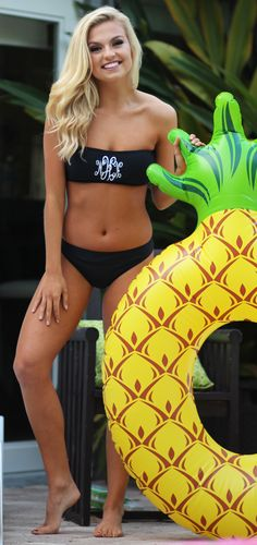 Crushinggg on this ADORABLE Monogrammed Bandeau Top