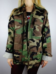 Vintage Camouflage Four Pocket Army Fatigue by FlamingoMaude, $49.00