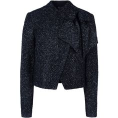 Alice+Olivia Blazer (505 BRL) ❤ liked on Polyvore featuring outerwear, jackets, blazers, alice + olivia, black, blazer jacket, zip jacket, alice olivia blazer, long sleeve jacket and alice olivia jacket