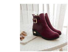 2014 hiver wedge Martin bottes mode ronde à court bottes chaudes bottes de neige preppy femme nubuck bottes en cuir gros rbx55(China (Mainland))