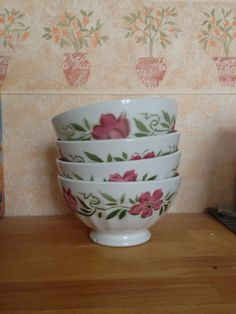 vintage French Cafe au Lait bowl by Alittlepieceoffrance on Etsy, $19.00