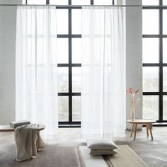 Our new range of luxury linen curtains are available ready-made as well as bespoke, and are the perfect finishing touch for your interior. Rod Pocket Curtains, Panel Curtains, Curtains Ready Made, White Linen Curtains, Living Room Decor, Bedroom Decor, Minimalist Chic, Pencil Pleat, Interior