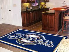 MLB - Milwaukee Brewers 5'x8' Rug $199.99 http://sdsmarket.com Show off your team pride in a big way! 5'x8' ultra plush area rugs won't leave any doubt about who you will be rooting for on game day! Non-skid backing keeps rug in place. Made of 32 ounce nylon carpet, which feels great on your feet. Chromojet printed i Features:  32 oz., 100% Nylon Face  Duragon latex backing for a durable and longer-lasting product  Machine made in the USA  Non-skid backing to ensure stability  Vacuum…