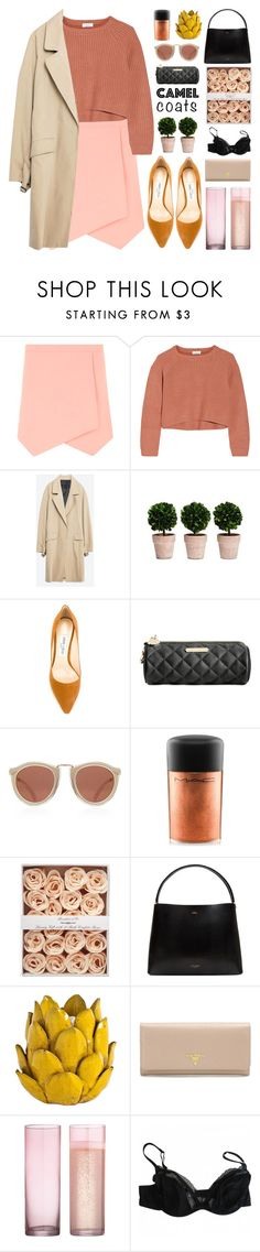 """Camel"" by igedesubawa ❤ liked on Polyvore featuring Dorothy Perkins, Brunello Cucinelli, Zara, Jimmy Choo, Betsey Johnson, Karen Walker, MAC Cosmetics, Ted Baker, Mercana and Prada"