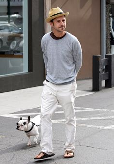 Giovanni Ribisi and his French Bulldog