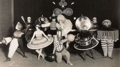 If you thought Bauhaus folk were good at designing coffee tables, just have a look at their costumes.