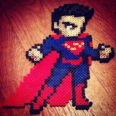 Superman perler beads by beads_of_art