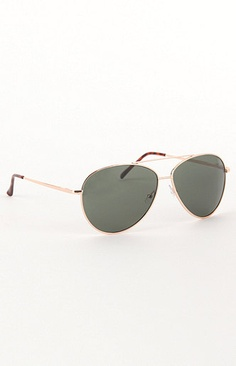 19e121fe63 With Love From CA Print Wire Aviator Sunglasses at PacSun.com