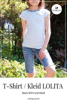 basicshirt für mädchen: LOLITA T Shirt Diy, Bermuda Shorts, Shirts, Blog, Crafting, Women, Fashion, Dress Patterns Girls, Sew Mama Sew