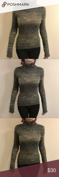 Halogen wool blend turtle neck Halogen 23% wool turtle neck olive green tan dark grey thin sweater Halogen Sweaters Cowl & Turtlenecks