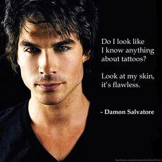 Lol, classic Damon Salvatore moment. | The Vampire Diaries